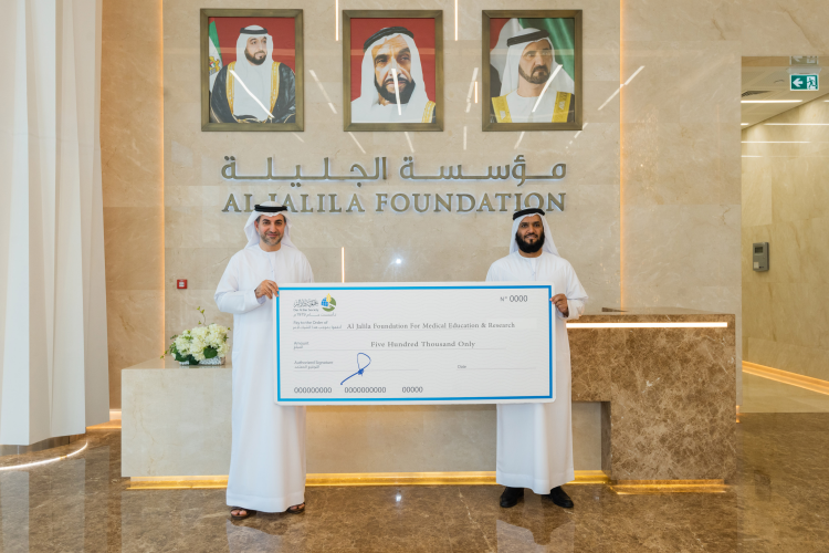 Dar Al Ber Supports The Al Jalila Foundation with half a million dirhams for research into the emerging covid-19 Virus